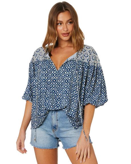 BIJOU BLUE WOMENS CLOTHING TIGERLILY FASHION TOPS - T615036U00BBLU