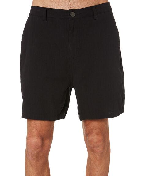BLACK MENS CLOTHING RUSTY SHORTS - WKM1077BLK