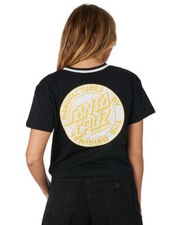 BLACK WOMENS CLOTHING SANTA CRUZ TEES - SC-WTC8645BLK