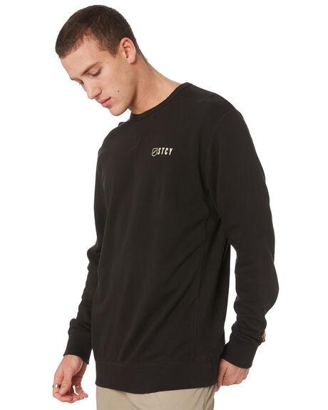 BLACK MENS CLOTHING STACEY JUMPERS - STFLEE002TVBK