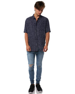 BLOW OUT BLUE MENS CLOTHING ZANEROBE PANTS - 702-RISEIBLOBL