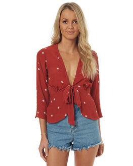RUST RED STAR WOMENS CLOTHING RUE STIIC FASHION TOPS - SO1721FRUSTR