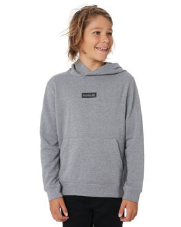 GREY HEATHER KIDS BOYS HURLEY JUMPERS + JACKETS - BQ2084050