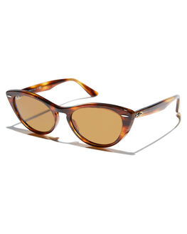 002ce489c1 STRIPPED BROWN WOMENS ACCESSORIES RAY-BAN SUNGLASSES - 0RB4314NSBRN