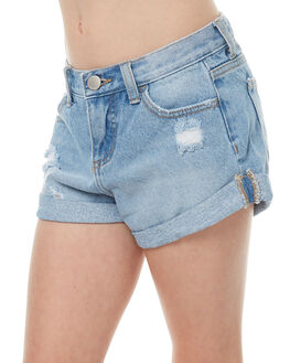 MID BLUE KIDS GIRLS BILLABONG SHORTS - 5571271MBLU