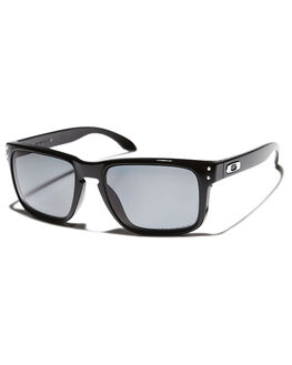 POLISHED BLACK GREY POLARISED MENS ACCESSORIES OAKLEY SUNGLASSES - OO9102-02BLK
