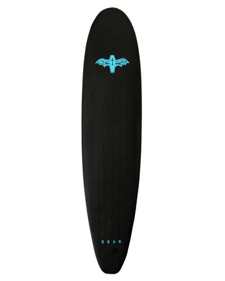 BLACK TURQUOISE BOARDSPORTS SURF DRAG SOFTBOARDS - DBCCOFF8BLKTU