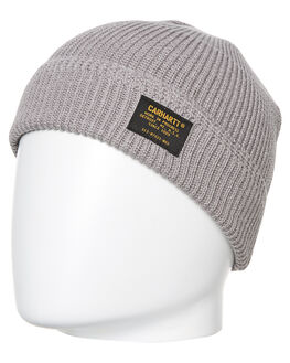 GREY HEATHER MENS ACCESSORIES CARHARTT HEADWEAR - I023684-V600