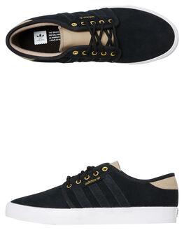 CORE BLACK TAN MENS FOOTWEAR ADIDAS SNEAKERS - SSEE6128CBLKM