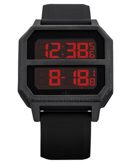 ALL BLACK RED MENS ACCESSORIES ADIDAS WATCHES - Z016-760