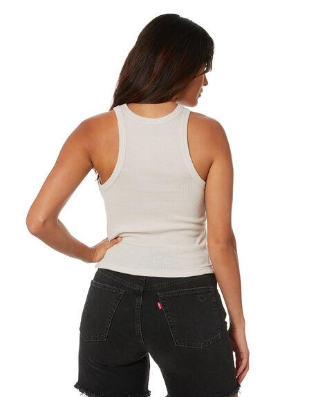 WHITE SAND WOMENS CLOTHING STUSSY SINGLETS - ST1M0154WSND