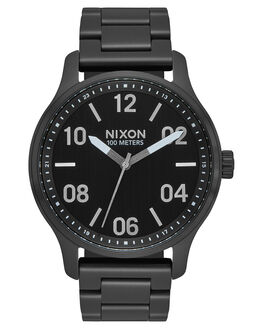 BLACK SILVER MENS ACCESSORIES NIXON WATCHES - A1242180