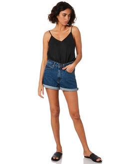 MID RETRO WOMENS CLOTHING DR DENIM SHORTS - 1610103-G18