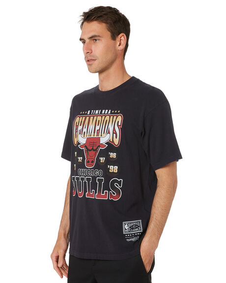 FADED BLACK MENS CLOTHING MITCHELL AND NESS TEES - MNCG0166FDBLK