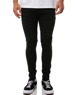 JET BLACK MENS CLOTHING NENA AND PASADENA JEANS - NPMCBP002JBLK
