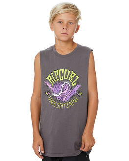 DARK GREY KIDS BOYS RIP CURL TOPS - KTEVN21221