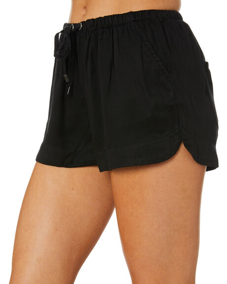 BLACK WOMENS CLOTHING ALL ABOUT EVE SHORTS - 6463230BLK