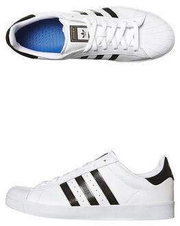 WHITE BLACK WHITE MENS FOOTWEAR ADIDAS ORIGINALS SKATE SHOES - D68718WHI
