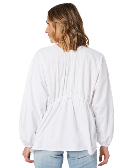 WHITE WOMENS CLOTHING ZULU AND ZEPHYR FASHION TOPS - ZZ3051WHITE