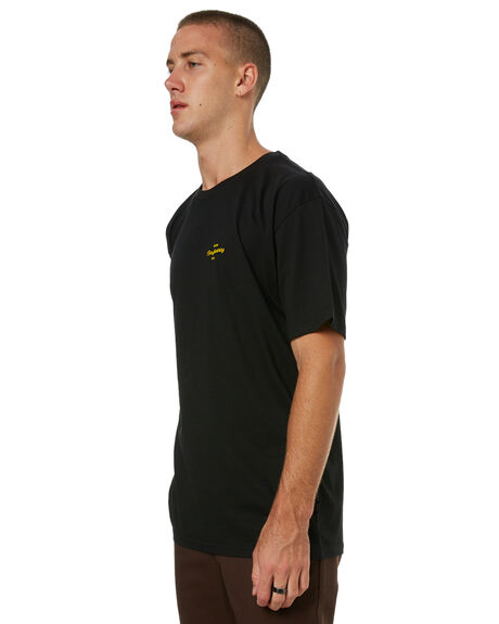 BLACK MENS CLOTHING RPM TEES - 7HMT02ABLK