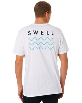 WHITE BLUE MENS CLOTHING SWELL TEES - S5184013WHTBL