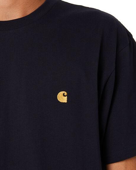 DARK NAVY GOLD MENS CLOTHING CARHARTT TEES - I0263911C