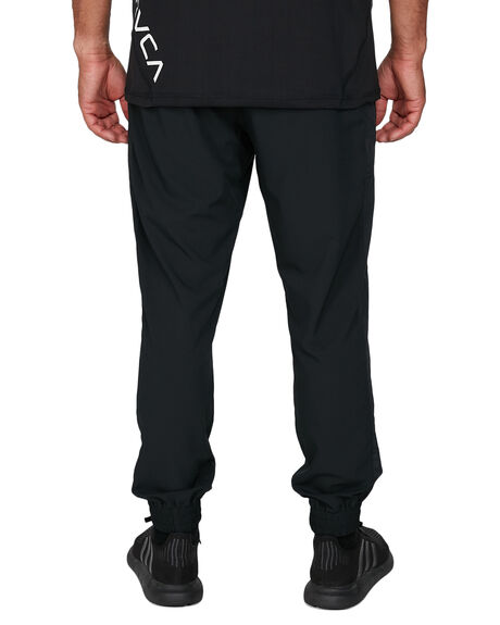 BLACK MENS CLOTHING RVCA PANTS - RV-R307275-BLK