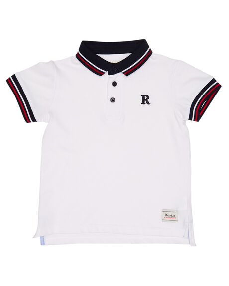 WHITE KIDS BOYS ROOKIE BY THE ACADEMY BRAND TOPS - R19S402WHT