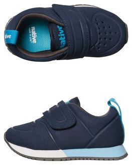 REGATTA BLUE WHITE KIDS TODDLER BOYS NATIVE FOOTWEAR - 23105200-4196