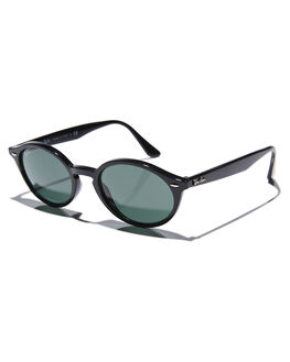 BLACK GREEN MENS ACCESSORIES RAY-BAN SUNGLASSES - 0RB4315BLK