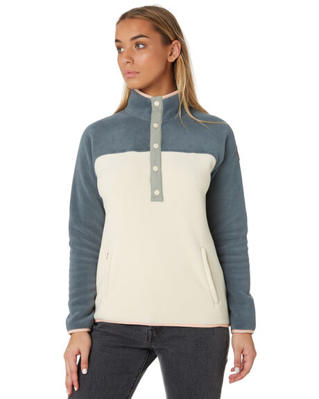 DARK SLATE CREME WOMENS CLOTHING BURTON JUMPERS - 173381020