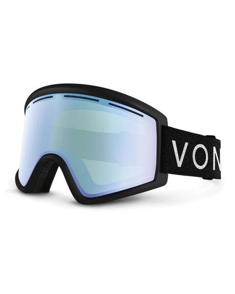 BLACK/STELLAR CHROME BOARDSPORTS SNOW VONZIPPER GOGGLES - VZ-GMSCLEKLC-BLK
