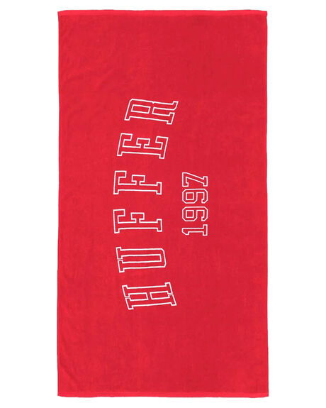 RED OUTLET WOMENS HUFFER TOWELS - AC84J5601RED
