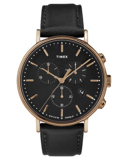 ROSE GOLD BLACK MENS ACCESSORIES TIMEX WATCHES - TW2T11600RSG