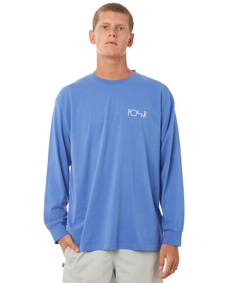 BAJA BLUE MENS CLOTHING POLAR SKATE CO. TEES - STRLOGOLSBBLU