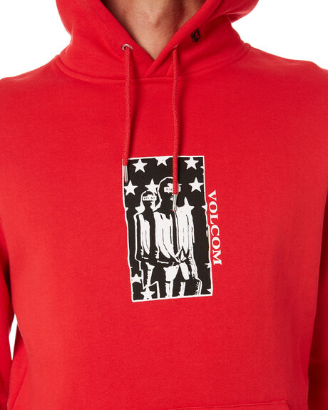 FIERY RED MENS CLOTHING VOLCOM JUMPERS - A4132011FRY