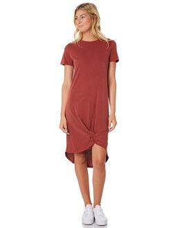 BURGUNDY WOMENS CLOTHING SILENT THEORY DRESSES - 6008016-BURG