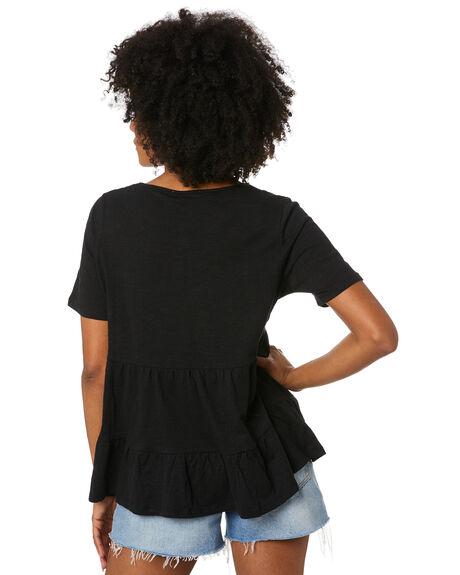 BLACK WOMENS CLOTHING BETTY BASICS TEES - BB273S20BLK