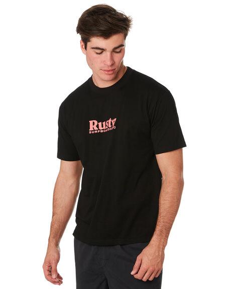 BLACK MENS CLOTHING RUSTY TEES - TTM2280BLK