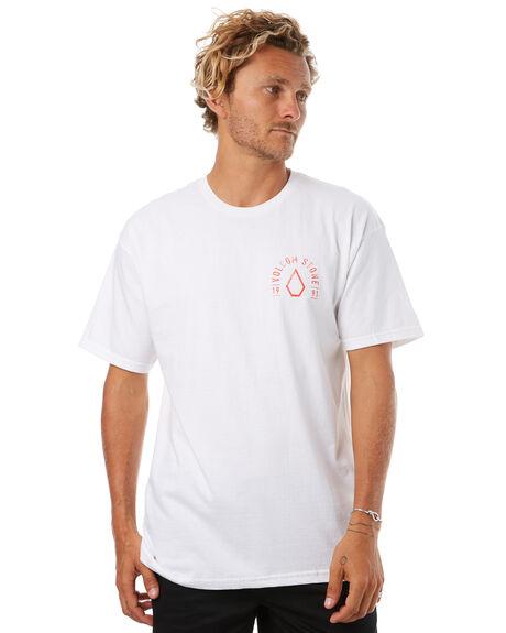 WHITE MENS CLOTHING VOLCOM TEES - A35417T0WHT