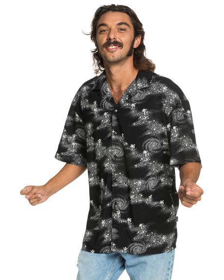 BLACK COSMIC RIP MENS CLOTHING QUIKSILVER SHIRTS - EQYWT03967-KVJ6