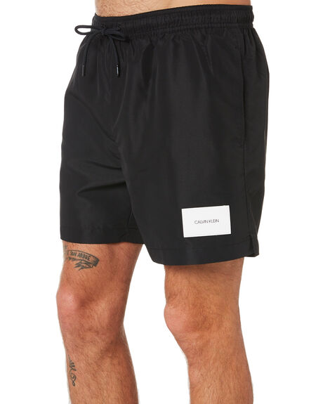 BLACK MENS CLOTHING CALVIN KLEIN BOARDSHORTS - KM00296-BEH