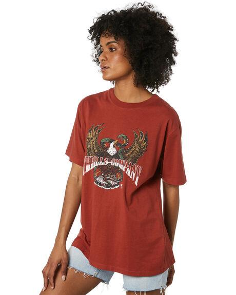 REDWOOD WOMENS CLOTHING THRILLS TEES - WTR20-109HREDW