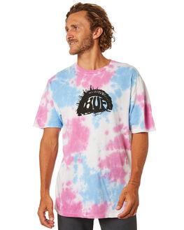 NEBULAS BLUE MENS CLOTHING HUF TEES - TS00888-NEBB