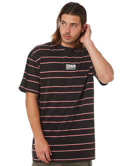 BLACK MENS CLOTHING RUSTY TEES - TTM2000BLK