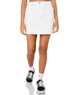 WHITE WOMENS CLOTHING VOLCOM SKIRTS - B1911900WHT