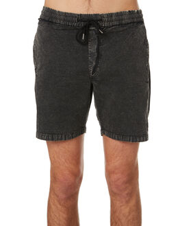 BLACK MENS CLOTHING VOLCOM SHORTS - A1031902BLK
