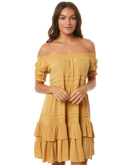 OCHRE WOMENS CLOTHING SAINT HELENA DRESSES - SH17HS408OCHRE