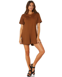 CHOCOLATE WOMENS CLOTHING THE BARE ROAD PLAYSUITS + OVERALLS - 090741-01CHOC