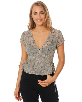 MOSSY SNAKE WOMENS CLOTHING THE EAST ORDER FASHION TOPS - EO191035TMOSS